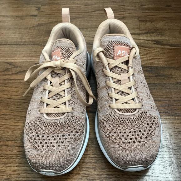b1c44bc0a66d APL Shoes - Rose Gold APL Techloom Pro Knit Mesh Sneakers
